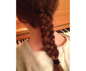 braid, brunette, and sister image