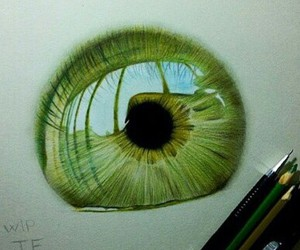 drawing, draw, and eyes image