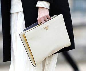 beige, clutch, and creme image
