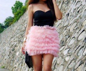 pink, ruffles, and cute image