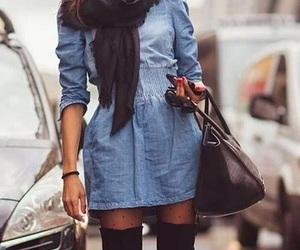 bag, boots, and clothes image