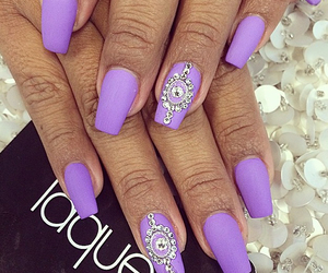 nails, purple, and laque image