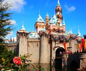 california, disneyland, and sleepingbeautycastle image
