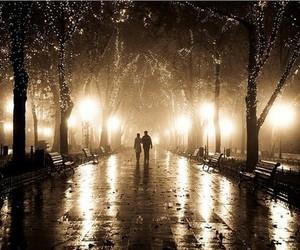 light, couple, and night image
