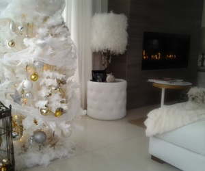 beautiful, fireplace, and tree image