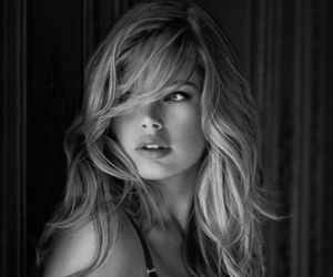angel, black and white, and Doutzen Kroes image