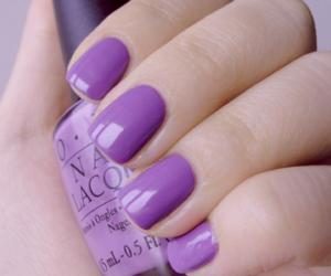 nails, purple, and nail polish image