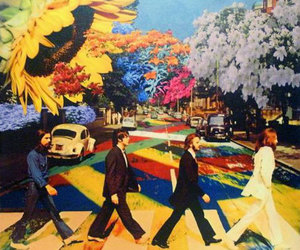 beatles, the beatles, and flowers image