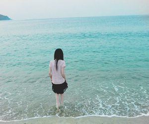 girl, sea, and asian image