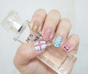 nails, chanel, and perfume image