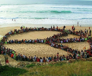 beach, peace, and gathering image