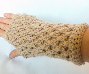 teen girl, fingerless mitts, and knit gloves image