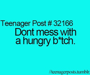 funny, hungry, and teenager post image