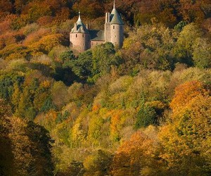 autumn, castle, and world image