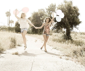 friends, balloons, and friendship image