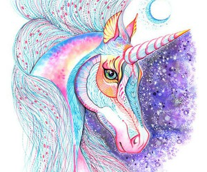 unicorn, colors, and art image
