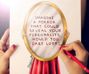 mirror, drawing, and art image
