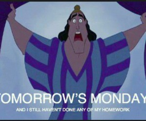 monday, homework, and tomorrow image