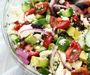 fit, healthy, and salad image