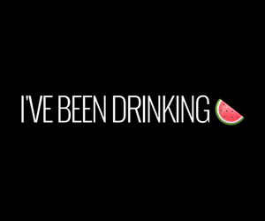 drinking and watermelon image