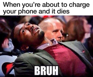 funny, phone, and bruh image