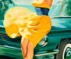 Pin Up, vintage, and car image