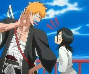 bleach, rukia, and Ichigo image