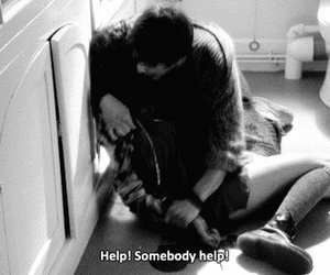 help, suicide, and american horror story image