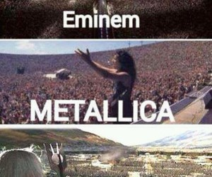 eminem, funny, and metallica image