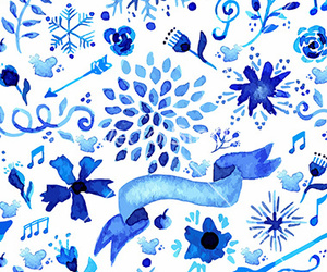 flower, pattern, and snowflake image