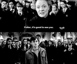 battle, black and white, and harry potter image
