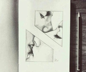drawing, in, and kissing image