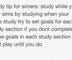 sims, study, and tips image