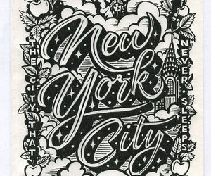 quotes, the big apple, and tyrpography image
