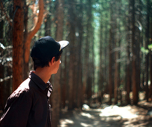 boy, day, and forest image