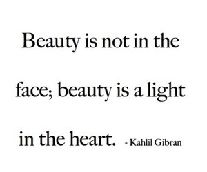 beauty, quote, and heart image