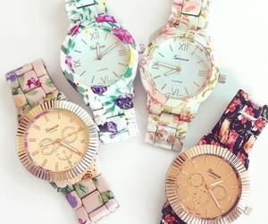 clocks, elegant, and floral image
