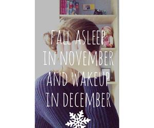 december, november, and sleep image