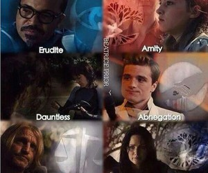 divergent, factions, and the hunger games image