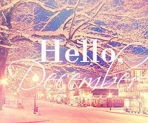 december, hello, and lights image