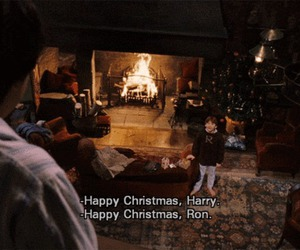 harry potter, christmas, and ron image