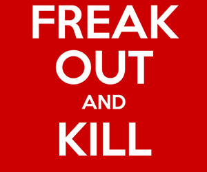 freak out, skull, and keep calm image