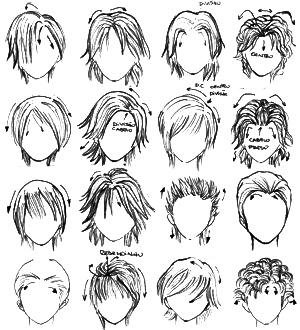 Manga Male Hairstyles Ideas Tutorials On We Heart It