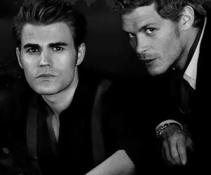 paul wesley, tvd, and joseph morgan image