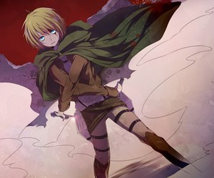 attack on titan, anime, and armin image