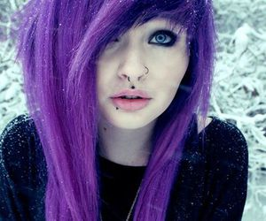 purple hair, scene, and alt girl image