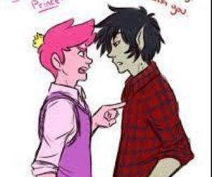 adventure time, marshall lee, and prince gumball image