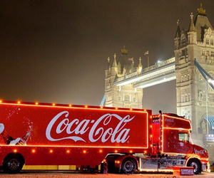 christmas, london, and coca cola image