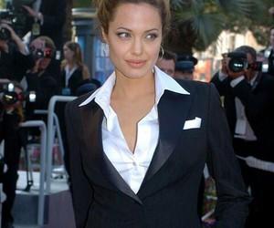 actress, angelinajolie, and bradpitt image