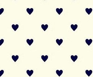 blue and white, hearts, and pattern image